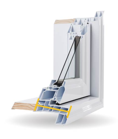Casement Windows - 4 1/2″ PVC Bonded Frame