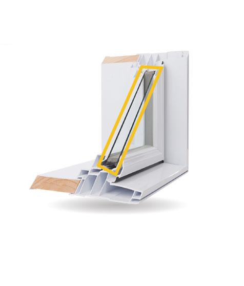 Fenêtres structurales - Double vitrage à faible émissivité rempli d'argon gazeux