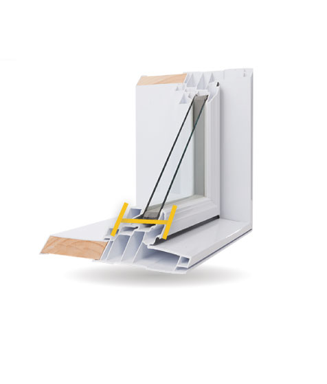 Architectural Windows - 4 1/2″ PVC Bonded Frame