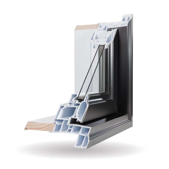 Hybrid PVC and Aluminum Windows - Black
