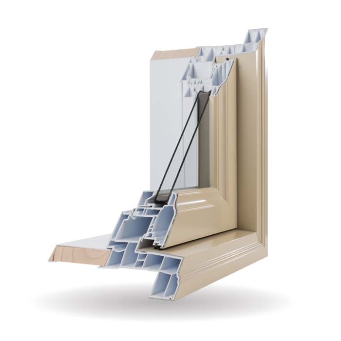 Hybrid PVC and Aluminum Windows - Ivory
