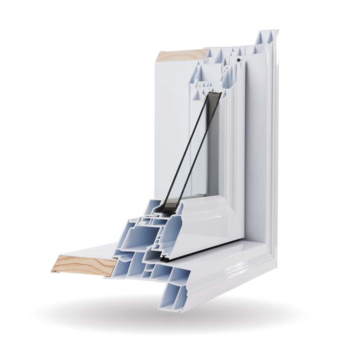 Hybrid PVC and Aluminum Windows - White