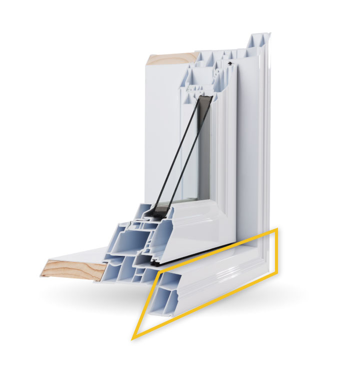 Casement Windows - Integrated Brickmould